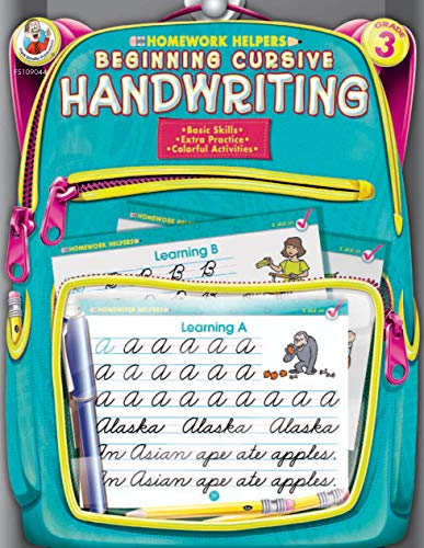 Beginning Cursive Writing, Homework Helpers, Grade 3