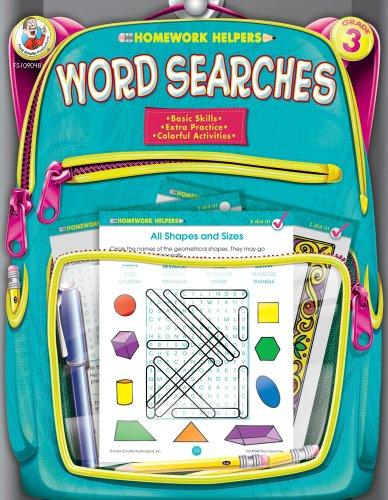 9780768207194: Word Searches, Grade 3 (Homework Helper)