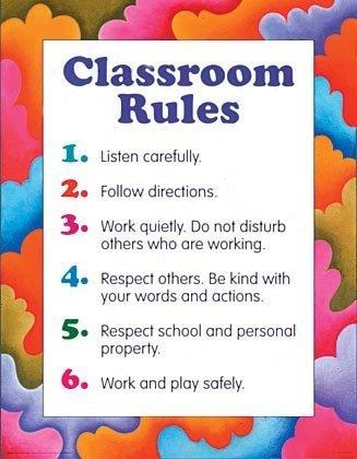 9780768212617: Classroom Rules Cheap Chart