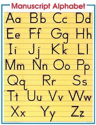 9780768212778: Manuscript Alphabet Cheap Chart (Cheap Charts)