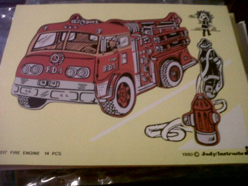 9780768224320: Fire Engine Classic Transportation Puzzle
