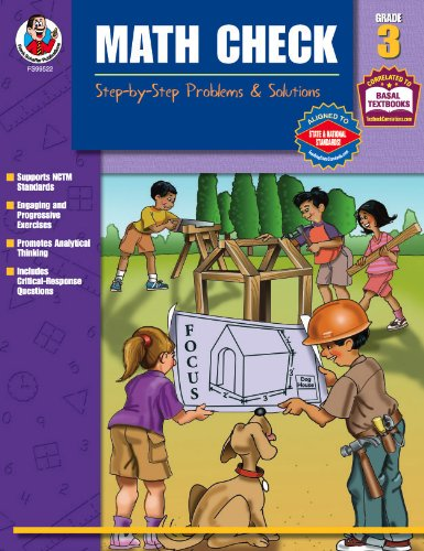 Math Check, Grade 3: Step-by-Step Problems & Solutions: Melissa Warner Hale