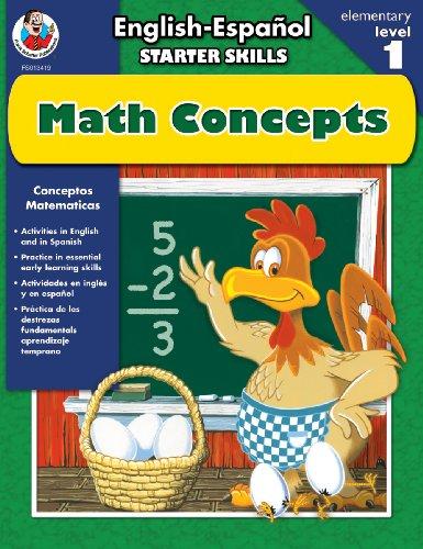 9780768234190: English-Espanol Starter Skills, Math Concepts (English and Spanish Edition)