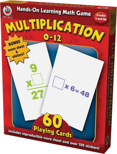 9780768235142: Hands-On Learning Multiplication 0-12 Card Game (Hands-On Learning Math Games)