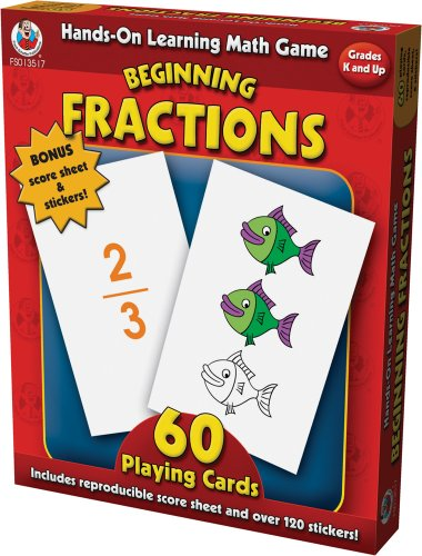 9780768235173: Hands-On Learning Beginning Fractions Card Game (Hands-On Learning Math Games)