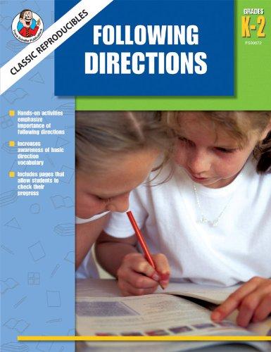 9780768235319: Classic Reproducibles Following Directions, Grades K-2