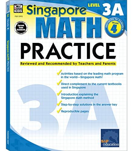9780768239935: Singapore Math Practice, Level 3A, Grade 4