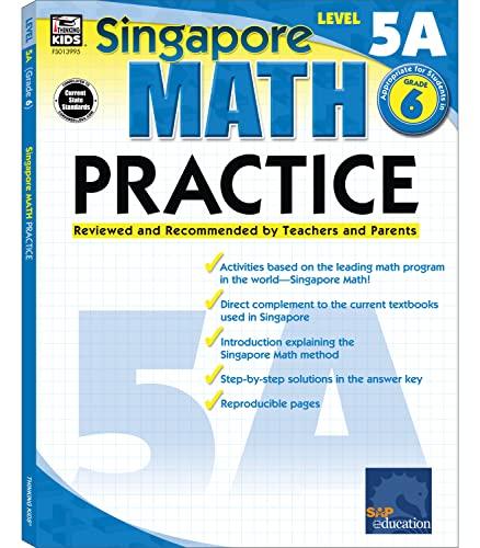 9780768239959: Singapore Math Practice Level 5A, Grade 6