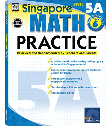 9780768239959: Math Practice, Grade 6: Reviewed and Recommended by Teachers and Parents (Singapore Math Practice)