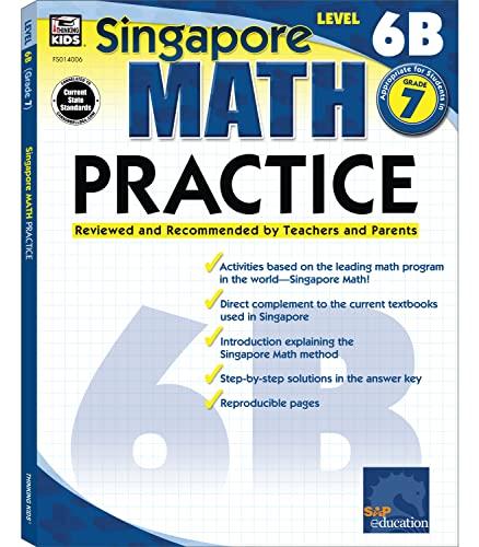 9780768240061: Singapore Math Practice, Level 6B, Grade 7