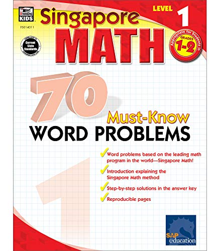 9780768240115: Singapore Math 70 Must-Know Word Problems, Level 1