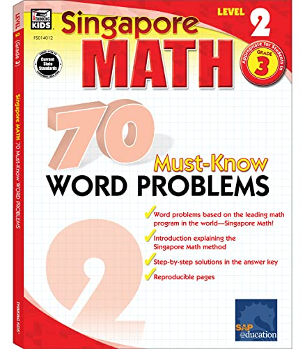 9780768240122: Singapore Math 70 Must-Know Word Problems, Level 2 Grade 3