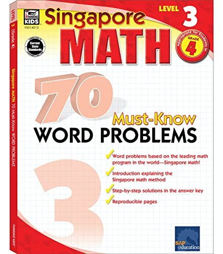 9780768240139: Singapore Math 70 Must-Know Word Problems, Level 3 Grade 4