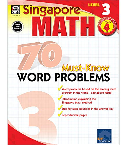 9780768240139: Singapore Math: 70 Must-know Word Problems, Level 3