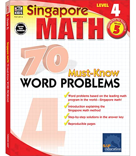 Singapore Math 70 Must-Know Word Problems Level 4, Grade 5 (Paperback): Sscn