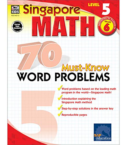 9780768240153: 70 Must-Know Word Problems, Grade 6 (Singapore Math)