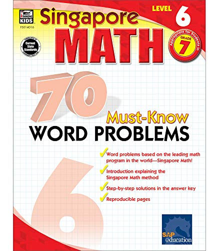 9780768240160: Singapore Math 70 Must-Know Word Problems Level 6, Grade 7