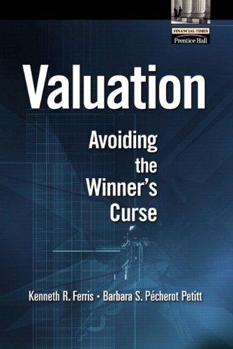 9780768682274: Valuation: Avoiding the Winner's Curse
