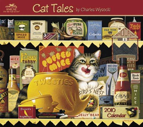 Charles Wysocki Cat Tales 2010 Wall Calendar: AmCal