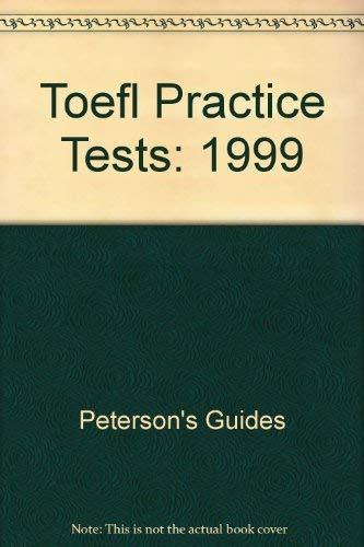 9780768900163: Peterson's Toefl Practice Tests (Peterson's TOEFL CBT Practice Tests)