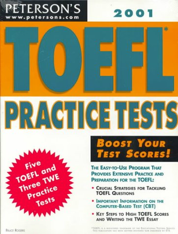 9780768904161: Peterson's Toefl Practice Tests 2001 (Toefl Practice Tests (Book and Cassette), 2001)