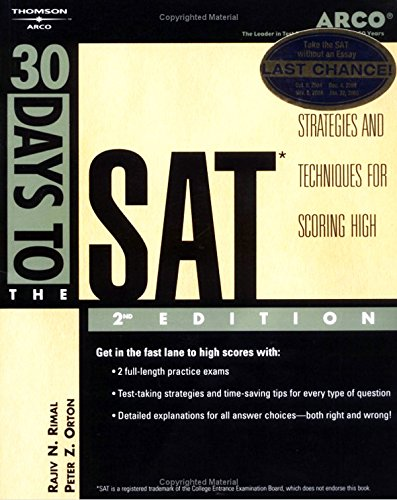 9780768906332: 30 Days to the SAT, 2nd ed (Arco 30 Days to the SAT)