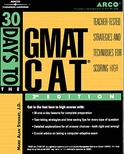 9780768906356: 30 Days to GMAT CAT, 2nd ed (Arco Thirty Day Guides)