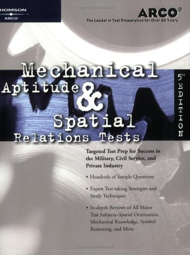 9780768907094: Arco Mechanical Aptitude and Spatial Relations Tests, Fifth Edition