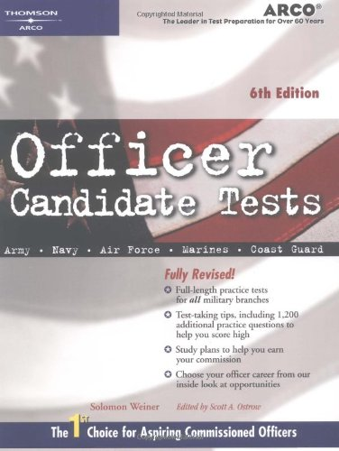 9780768908473: Officer Candidate 6e (Arco Military Test Tutor)