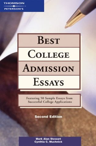 9780768908497: Best College Admission Essays (Peterson's Best College Admission Essays)