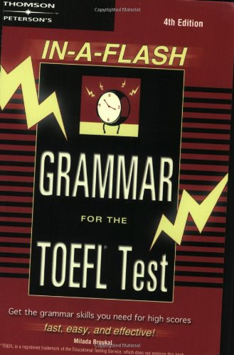 In-A-Flash Grammar for the TOEFL Test: Peterson's