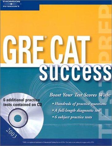 GRE Success w/CDRom 2003 (PETERSON'S GRE CAT SUCCESS): Peterson's