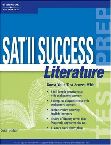 9780768909593: SAT II Success Literature, 2nd ed (Peterson's SAT II Success Literature)