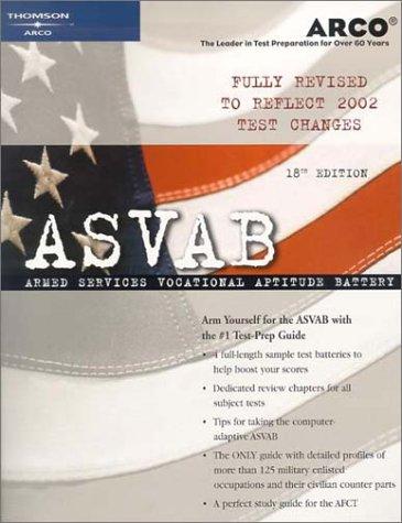 9780768910278: ASVAB 18th Edition (Arco Military Test Tutor)