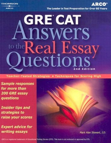 9780768911749: GRE CAT Answers to Real Essay Questions (Peterson's GRE Answers to the Real Essay Questions)
