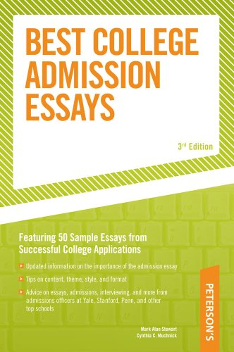 9780768917291: Best College Admission Essays (Peterson's Best College Admission Essays)