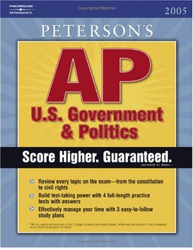9780768918267: AP Government and Politics, 1E (Peterson's AP U. S. Government & Politics)
