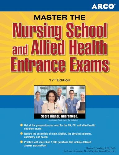 9780768918397: ARCO Master the Nursing School and Allied Health Entrance Exams, 17th Edition