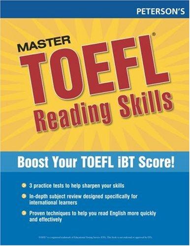 9780768923278: Master the TOEFL Reading Skills, 1st ed (Peterson's Master the TOEFL Reading Skills)