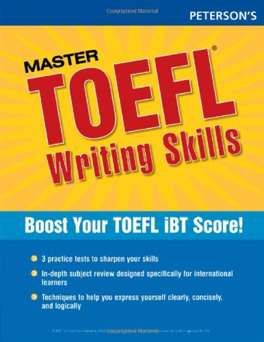 9780768923292: Master the TOEFL Writing Skills, 1st ed (Peterson's Master the TOEFL Writing Skills)