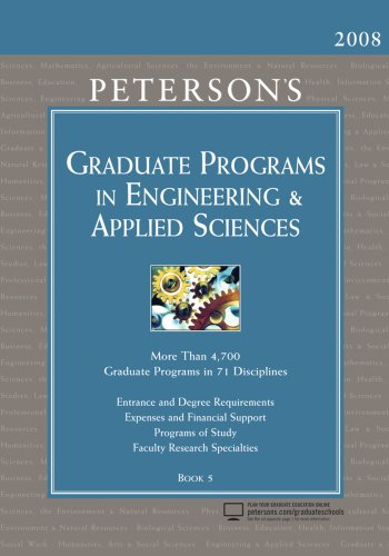 9780768924039: Peterson's Graduate Programs in Engineering & Applied Sciences 2008: Book 5