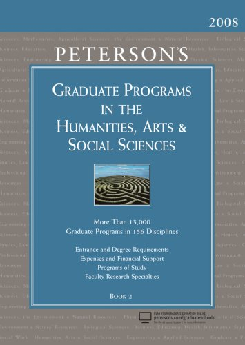 9780768924053: Graduate Programs in the Humanities, Arts & Social Sciences 2008 (Peterson's Graduate Programs in the Humanities, Arts & Social Sciences)