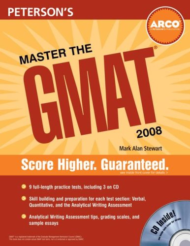 9780768924480: Master the GMAT, 2008/e, w/CD (Peterson's Master the GMAT (w/CD))