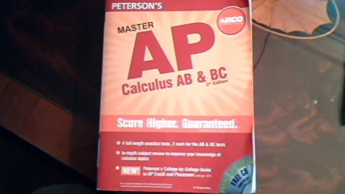 9780768924701: Master the AP Calculus AB & BC, 2nd Edition (Peterson's Ap Calculus)