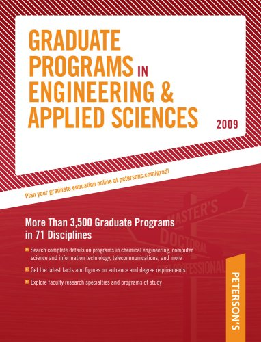 9780768925678: Grad Guides BK5: Engineer/Appld Scis 2009 (Peterson's Graduate Programs in Engineering & Applied Sciences (Book 5))