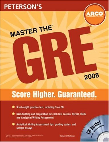 9780768925814: Master the GRE 2008 (Peterson's Master the GRE)