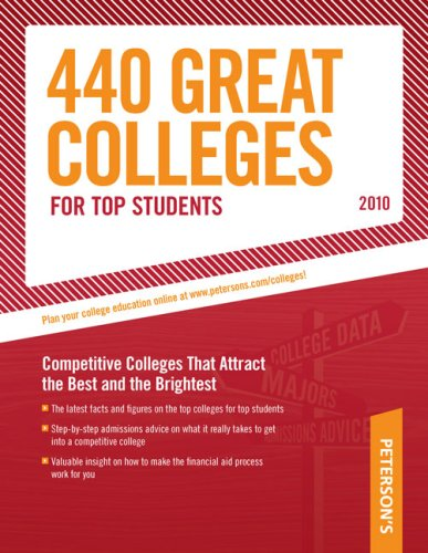 9780768926866: 440 Great Colleges for Top Students: Find the Right College for You (Peterson's 440 Colleges for Top Students)