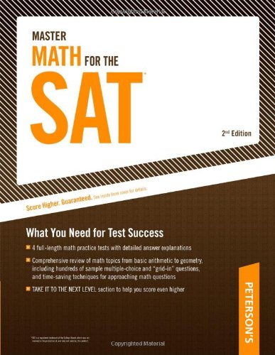 9780768927238: Master Math for the SAT (Peterson's Master Math for the SAT)
