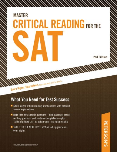 9780768927245: Master Critical Reading for the SAT