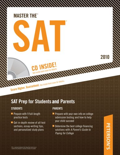 9780768927917: Master The SAT - 2010: CD-ROM INSIDE; SAT Prep for Students and Parents